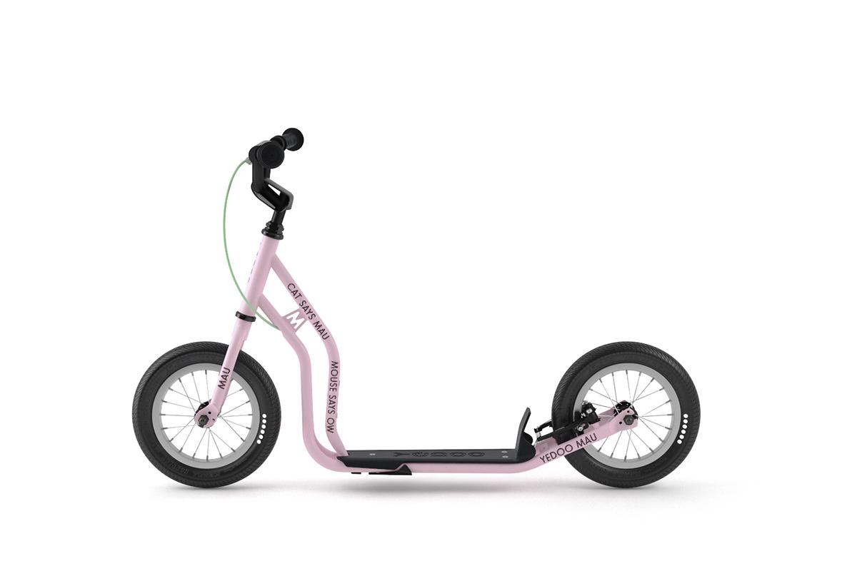YEDOO New Mau Kinder-Roller Candy-Pink ab 4 Jahren