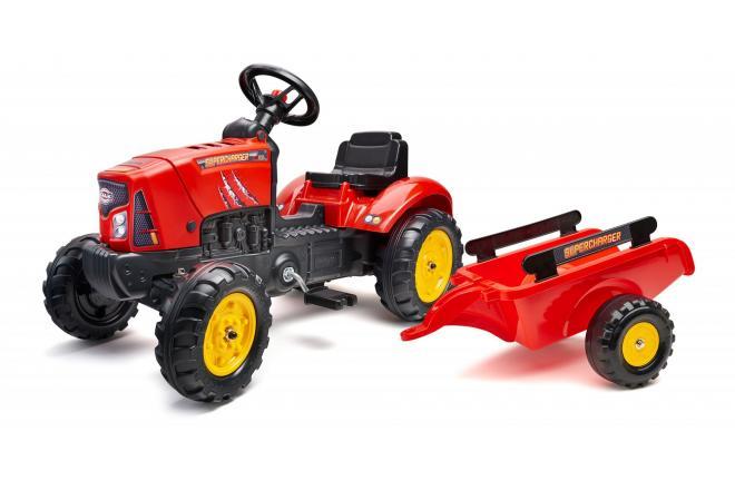 Falk Supercharger - Rot - Traktor - Jungen