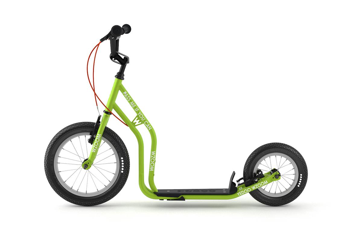 YEDOO WZOOM Tretroller Kinder áb 6 Jahre grün