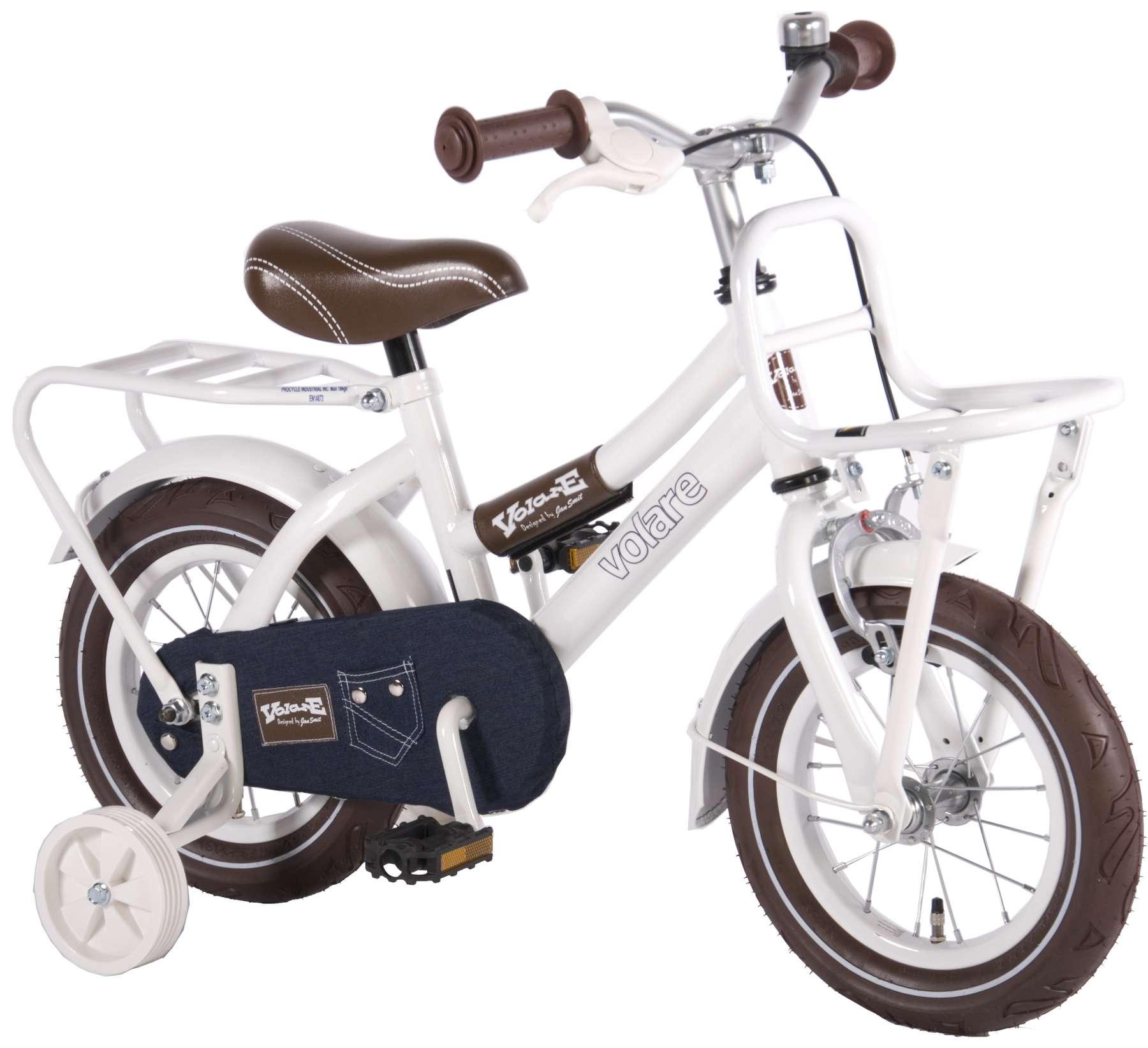 Urban Jeans Kinderfahrrad - Mädchen - 12 Zoll - Weiß