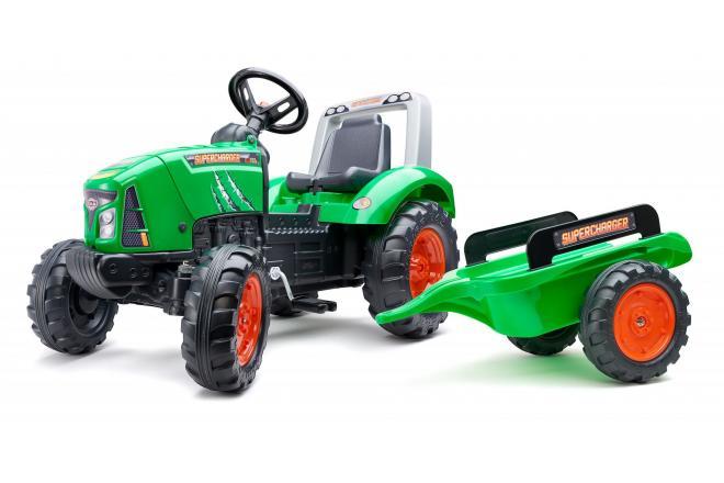 Falk Supercharger - Grün - Tret-Traktor - Jungen