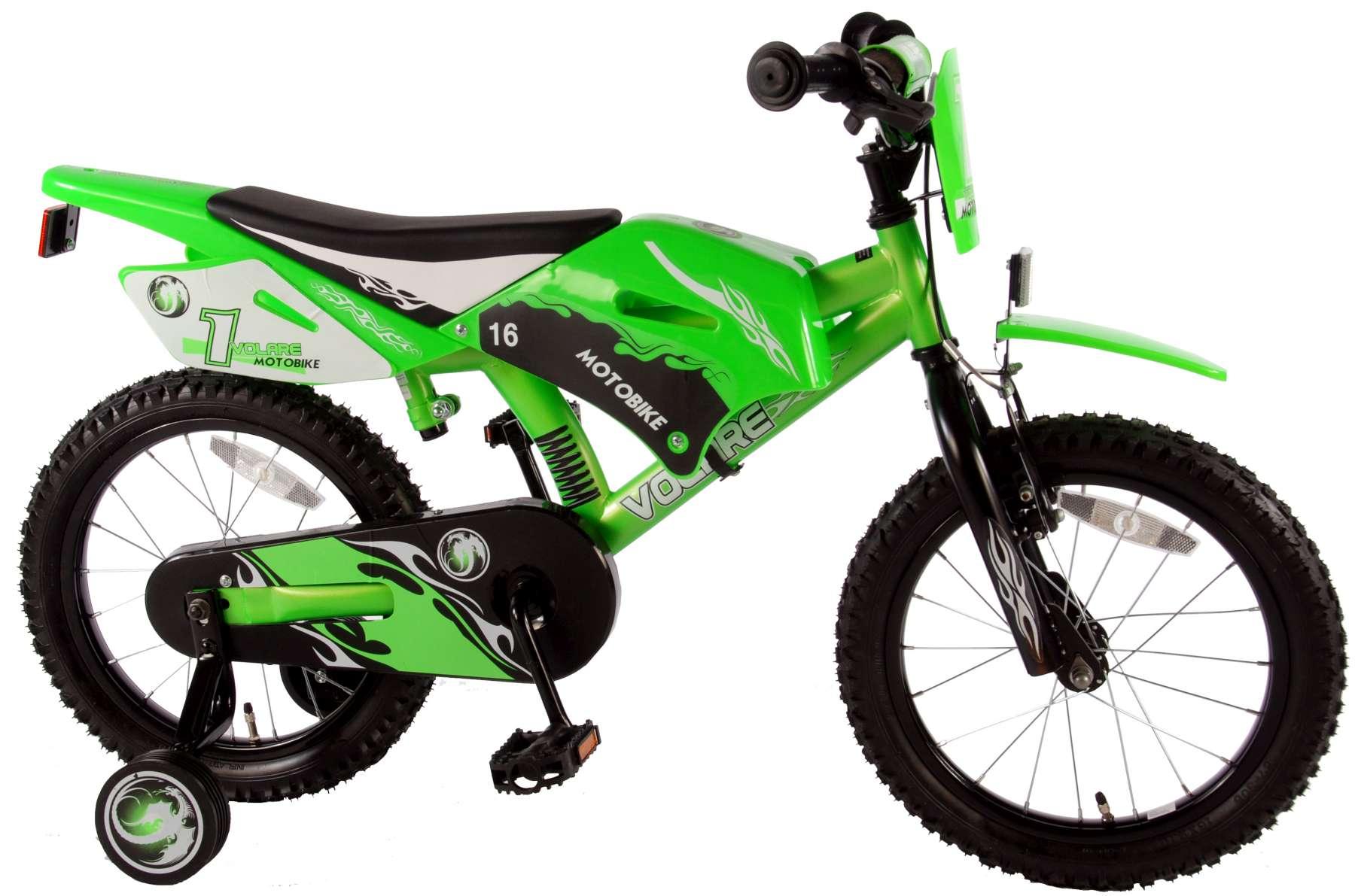 Volare Motobike Kinderfahrrad - Jungen - 16 Zoll - Grün