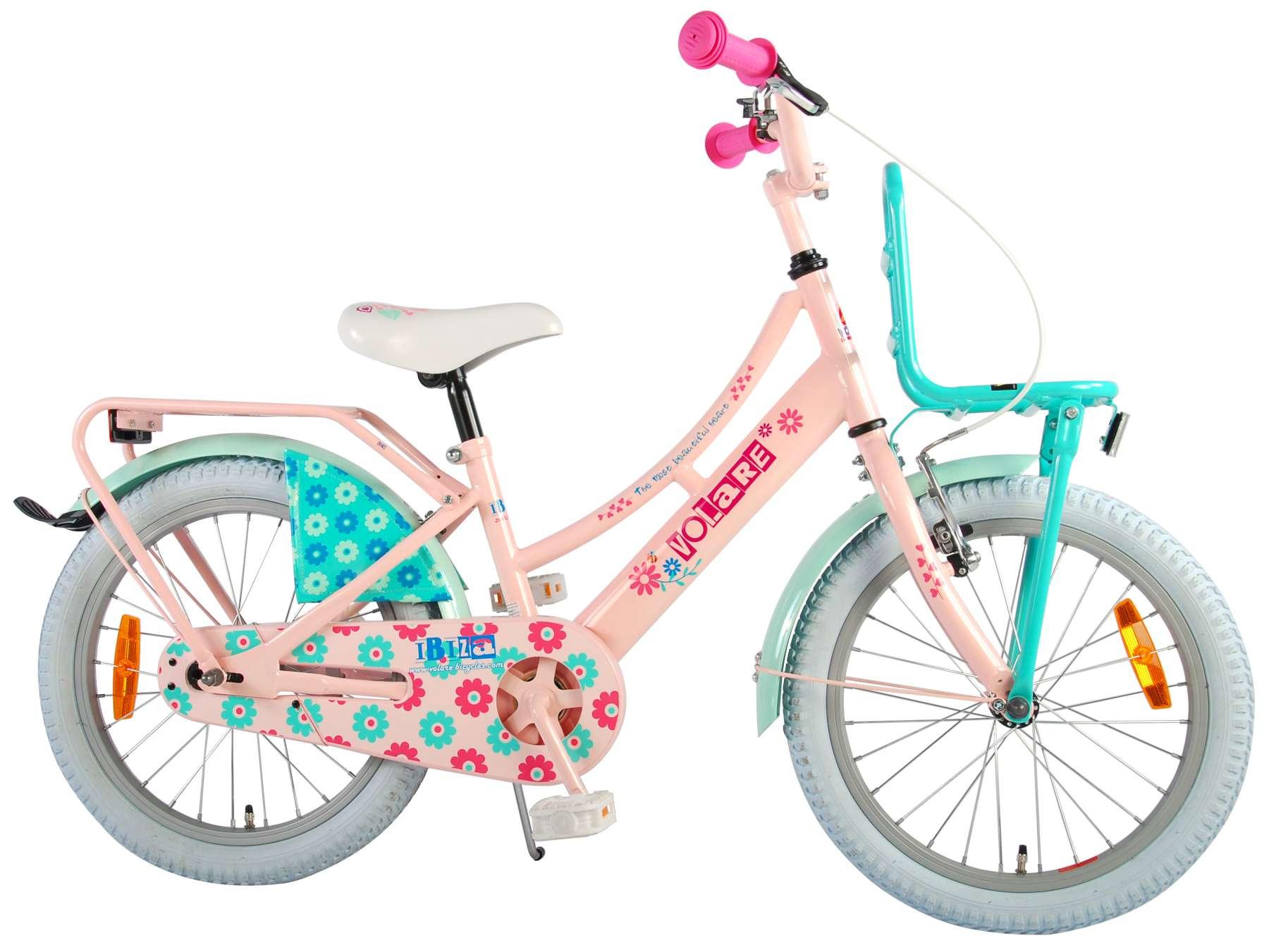 Volare Ibiza 18 Zoll Kinderfahrrad - Mädchen Pink