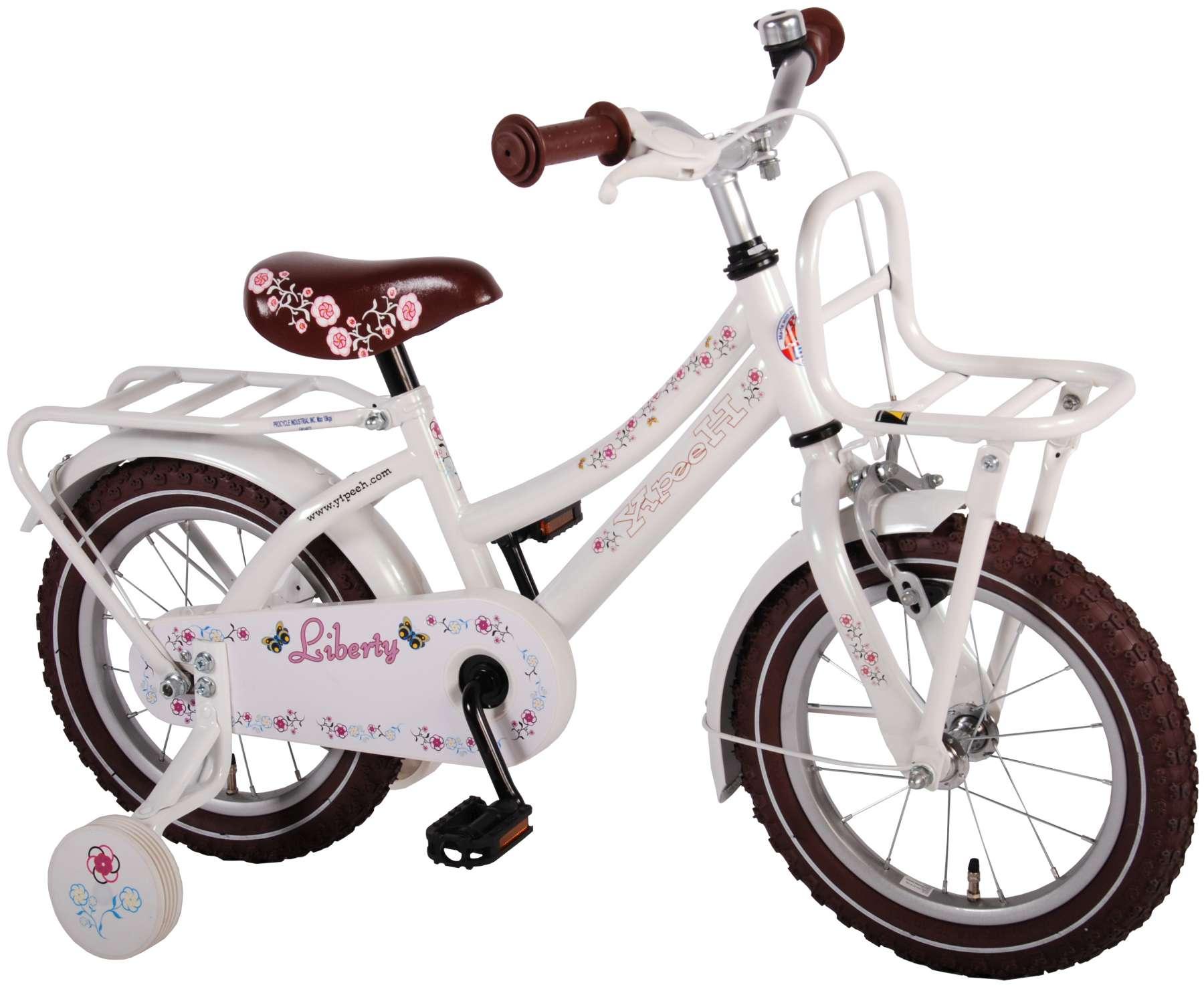 Volare Liberty Urban Kinderfahrrad - 14 Zoll - Mädchen - Weiß - 95%  zusammengebaut