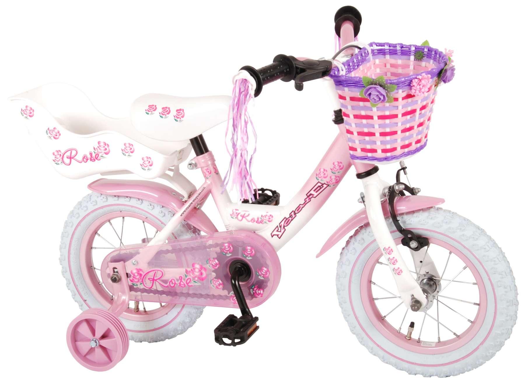 Volare Rose 12 Zoll  Kinderfahrrad - Mädchen - pink